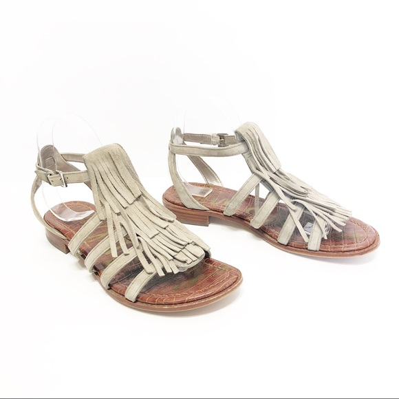 3548929d491009 Sam Edelman Estelle Fringe Gladiator Sandals. M 5bfa6ace6a0bb79dcd7963d0